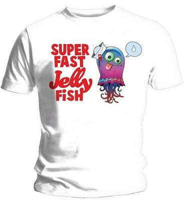 Gorillaz - Super Fast Jelly Fish Mens Short Sleeve Cotton T-Shirt New & Official