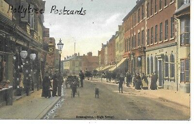 1906 Bromsgrove High Street shops & shoppers Worcestershire