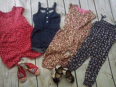 31x SUMMER NEXT DEB BHS NEW USED BUNDLE OUTFITS BABY GIRL 12/18 MTHS(3.3)