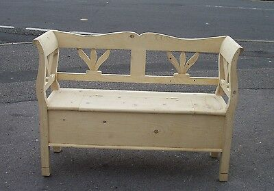 Pine Box settle/ Bench Storage For Painting or Waxing