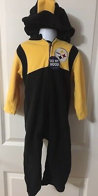 NFL Pittsburgh Steelers Size 3T Fleece Outfit Coat NEW Mascot Wear Halloween