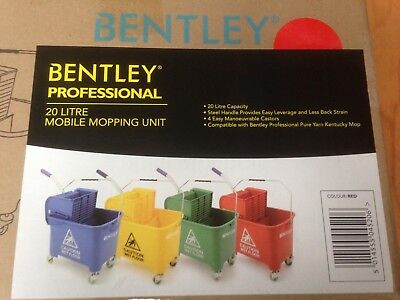 Bentley Mop Bucket: 20 Litre Mobile Mopping Unit (Red)