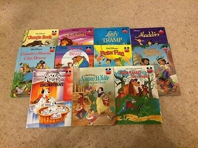 Set 11 Vintage Walt Disney Wonderful World Reading HB Books Mickey Mouse