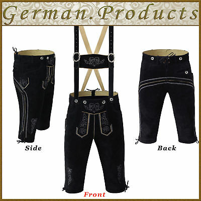 Authentic Trachten Oktoberfest German Bavarian Lederhosen Bundhosen Kniebund GQ1
