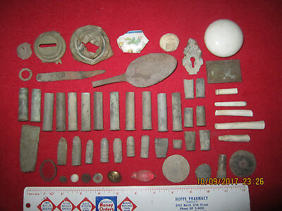 Lot Of 55 Military Fort Site Artifacts ( Fort Custer, Montana )