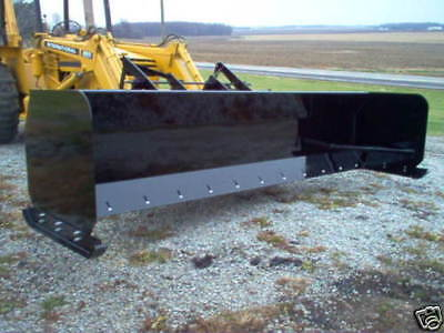 LINVILLE 10' SNOW PUSHER loader snowplow backhoe  steel edge rubber available