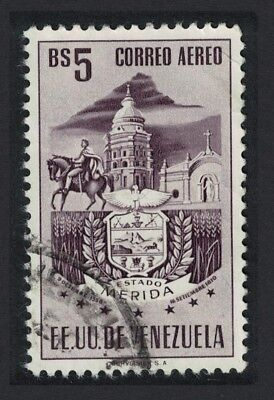 Venezuela Arms issue State of Merida Church 1v 5Bs canc KEY VALUE Light SG#1151