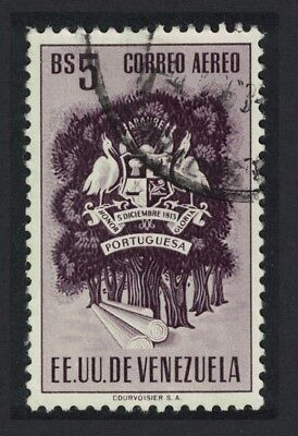Venezuela Pelicans Birds Arms issue State of Portuguesa 1v 5Bs canc KEY VALUE