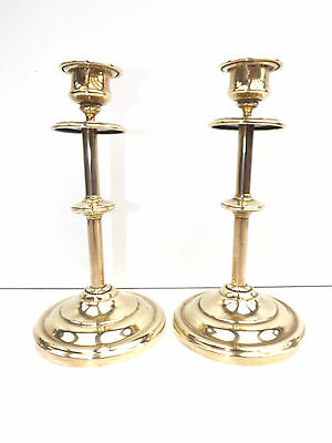 Antique Victorian Pair of Church Candlesticks