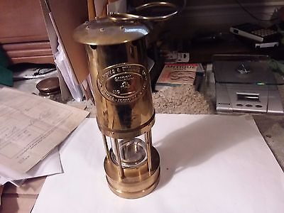 Brass Miner's Lamp - Thomas And Williams Ltd.  - Made In Wales U.k.