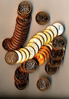 Roll Of (50) 1960 Canadian Pennies **all Red Brilliant Uncirculated**