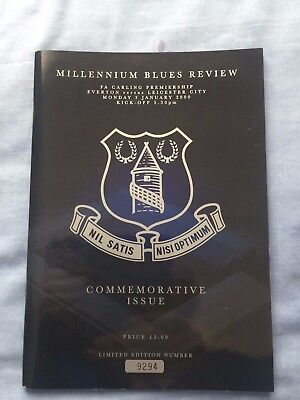 Two Special Edition Everton Programme's