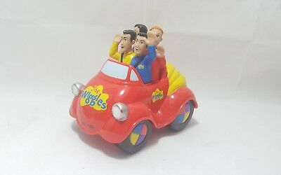 Rare The Wiggles Toys Big Red Car push Along Musical Toy