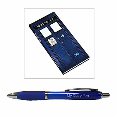 Doctor Who 2018 Slim Diary + Exclusive Limited Edition Diary Pen NEW