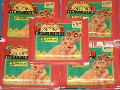 Disney's LION KING II 'SIMBA's PRIDE' 50 Sealed Packets Of Panini Stickers