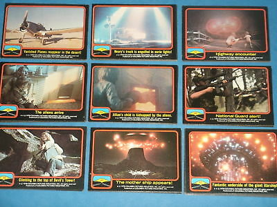 CLOSE ENCOUNTERS OF THE THIRD KIND: Complete Trading Card & Sticker Set E.T.'s