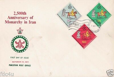 Pakistan Fdc 1971 & Stamps 2500th Anniversary Monarchy