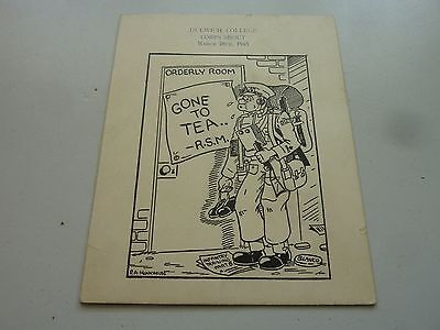 1945 Dulwich College Army Junior Training Corps Concert Programme Card Original