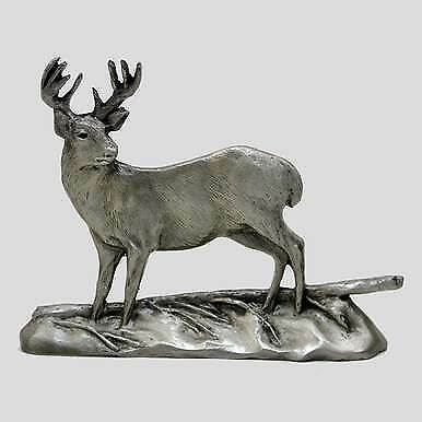 Pewter Shelf Accent - Whitetail Deer