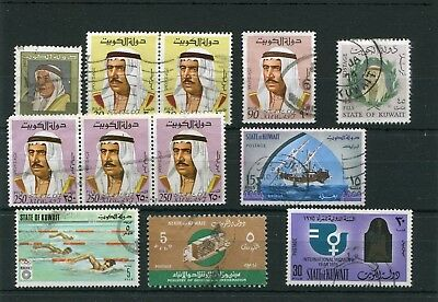 Kuwait.12 -- Used Stamps On Stockcard