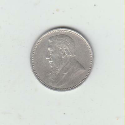 Rare South Africa 1896 Silver (.925) Threepence, NVF, Only 166,000 Minted