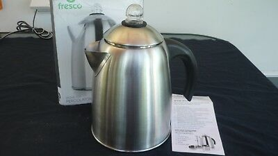 Fresco FSP18 - 1.8-Liter Stove Top Coffee Percolator Stainless Steel Silver