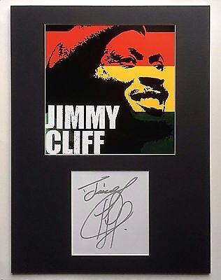 JIMMY CLIFF signed autograph 12x16