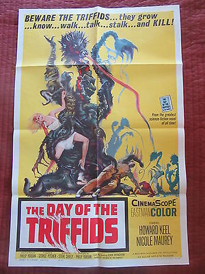 DAY OF THE TRIFFIDS 1-sheet, Howard Keel, John Wyndham, classic sci-fi
