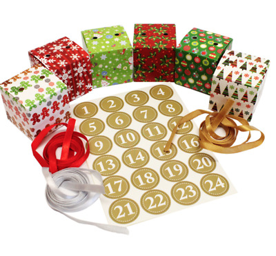 Make Your Own Advent Calendar Christmas Countdown Gift Craft Boxes Set Kit