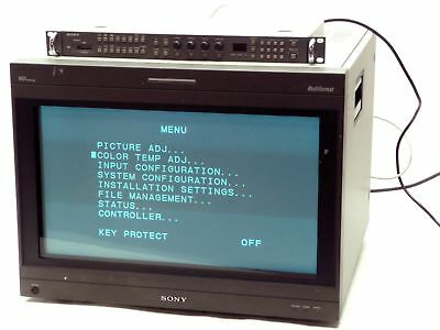 "SONY TRINITRON HR BVM-A24E1WU 24"" CRT RETRO GAMING VIDEO MONITOR w/BKM-15R"