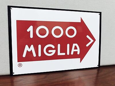 Mille Miglia 1000  Alfa Romeo Ferrari vintage metal sign Reproduction