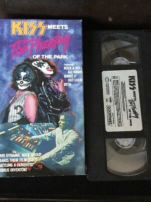 Kiss Meets The Phantom Of The Park Kiss Movie 1988 Original Vhs Movie Rare Kiss