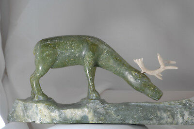 Soapstone Carving: Canada: First Nation: Inuit: CARIBOU