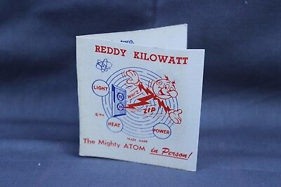 Vintage Reddy Kilowatt Pin New On White Advertising Card
