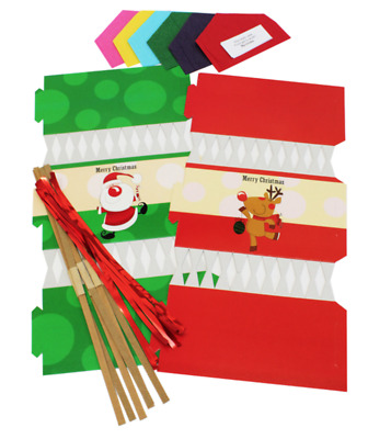 Make Your Own Christmas Crackers Santa & Reindeer Design Fun DIY Craft Set PK06