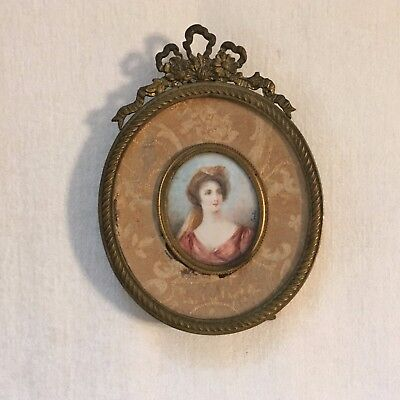 Miniature portrait of French woman