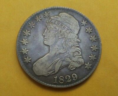 1829 Capped Bust Half dollar 50 cent old silver normal date