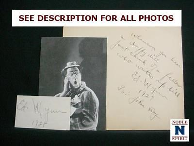NobleSpirit NO RESERVE {3970} Outstanding Pair of Ed Wynn Autographs