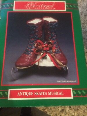 House Of Lloyd Christmas Around The World Antique Skates Musical Winter With Box