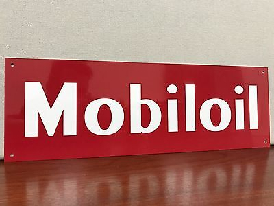 Mobil oil Mobiloil pegasus aviation gas Gasoline advertising sign