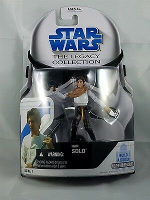 Star Wars Legacy Collection Han Solo w/ Build a Droid NIP