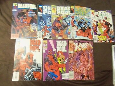 deadpool #16-20 1997 8 issue lot 16,17,18,19,20 #1 #3 (1994) Uncanny X-men 205