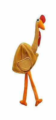 Christmas Party Accessories Adult Cap Fancy Dress Turkey Gobbler Hat with Legs