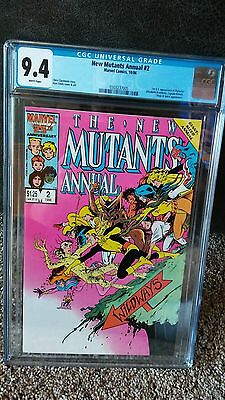 The New Mutants Annual #2 CGC 9.4 ! White pages, (Jan 1986) - 1st Psylocke