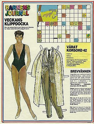 Janni Spies Kjaer Vintage Swedish Paper Doll fashion designer