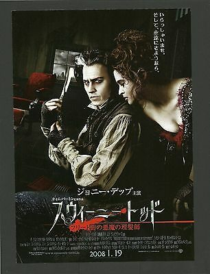 Johnny Depp & Helena Bonham Carter in Sweeney Todd Film Poster from China A