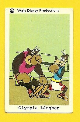 Goofy Boxing 1970s Walt Disney Card from Sweden