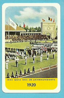 Olympic Games of 1920 Cool Collector Card Europe Look!