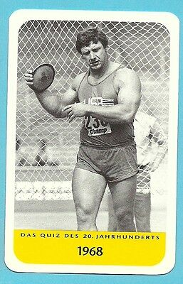 Al Oerter Olympics Discus Track & Field Cool Collector Card from Europe