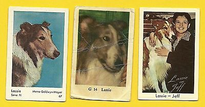 Lassie the Dog TV series Vintage 1960s Cards from Sweden LOT H